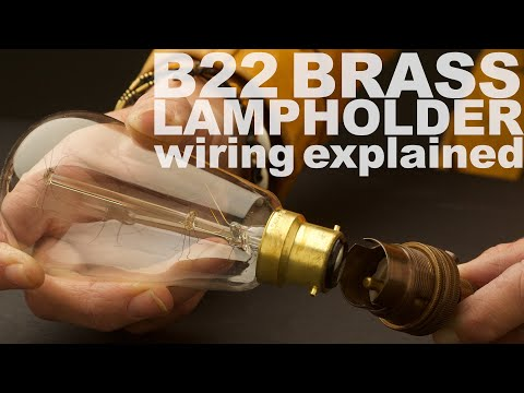 How To Wire A 220 240v Bayonet B22 Lamp Holder Youtube