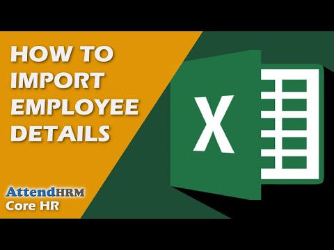 How to import employees into AttendHRM from a file (excel)?