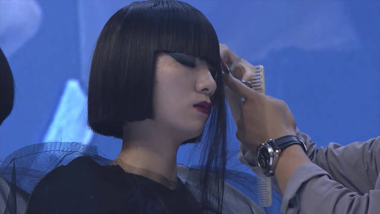 Aveda Shinto Inspired Bob Haircut Fringe Hairstyle By Team Japan