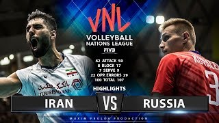 Iran vs Russia   Highlights Men