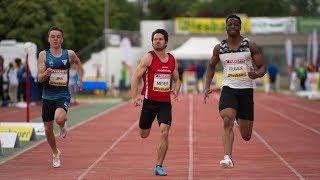 Men's 100m Final B at Liese Prokop Memorial 2019