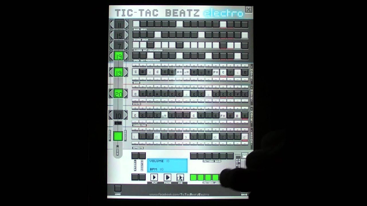 tic tac beatz electro electro style music sequencer drum machine loop creator for ipad youtube. Black Bedroom Furniture Sets. Home Design Ideas