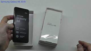 Samsung Galaxy A8 2018 - UNBOXING & FIRST START!!!