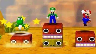 Скачать Mario Party 2 4 Player Minigames 1 Vs 3 Yoshi Luigi Mario Peach All Funny Minigames Master CPU
