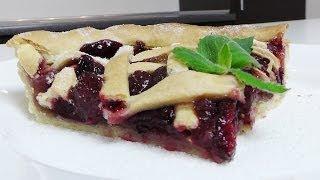 Вишневый пирог видео рецепт