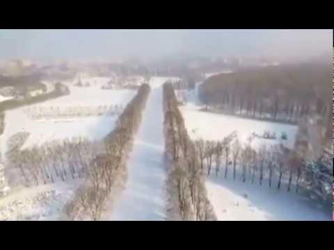 В Ставрополе Ботанический сад зимой аэросъемка