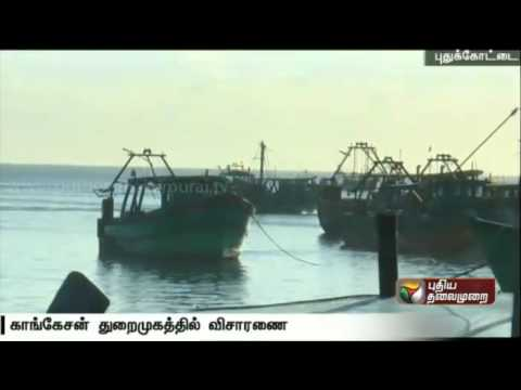 Three fishermen from Pudukottai arrested and their vessel seized by Srilankan Navy