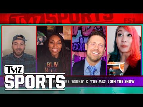 The Miz and Asuka Talk Royal Rumble, Cup Noodles, & Surprise Announcement! | TMZ Sports