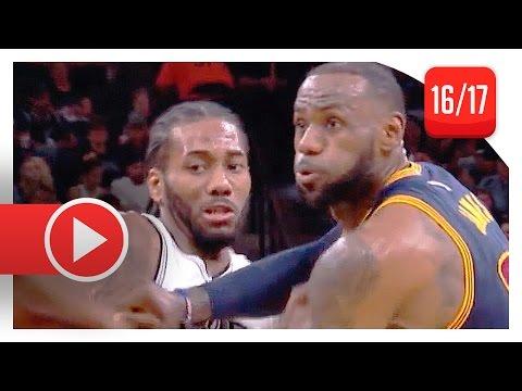 Kawhi Leonard vs LeBron James MVP Duel Highlights (2017.03.27) Spurs vs Cavaliers - SICK!