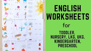Daily Practice English Worksheets for Toddler, Nursery, LKG, UKG, Kindergarten, Preschool   #4
