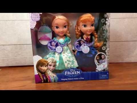 Frozen Anna & Elsa singing sisters dolls toy