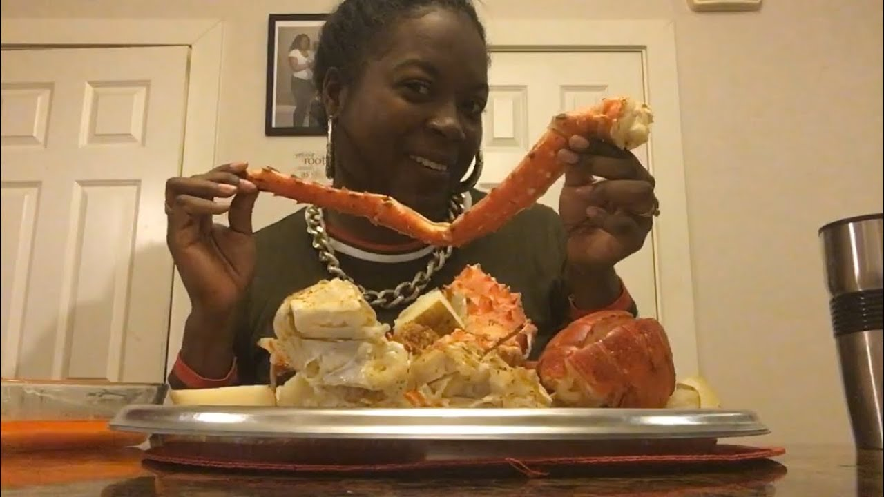 Eating some good ole seafood baby - YouTube