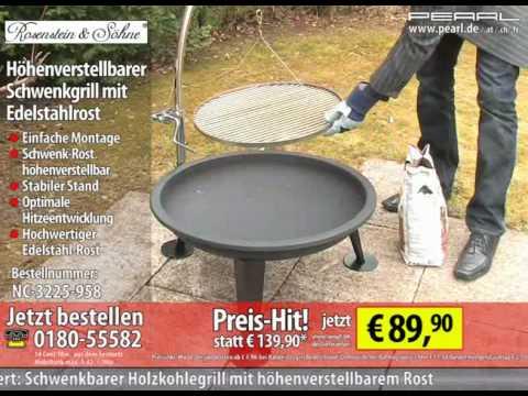 Weber Holzkohlegrill Höhenverstellbar : Rosenstein söhne höhenverstellbarer schwenkgrill mit