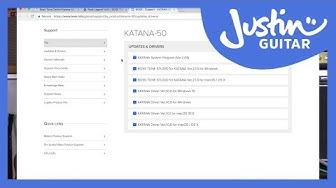 Boss Katana: Installing The Boss Tone Studio Software & Drivers Guitar Amp Lesson