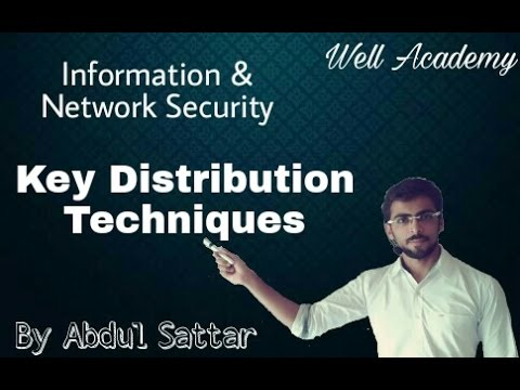Information & Network Security Lecture --  Key Distribution Techniques | public-secret | (Eng-Hindi)