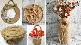 11 ideas of crafts from jute. Gifts with their hands