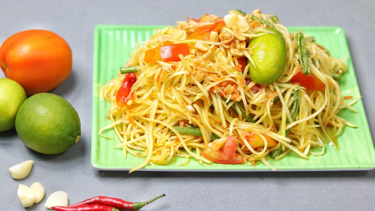 Cách làm GỎI ĐU ĐỦ THÁI LAN ngon như Ty Thy | Making and Mukbang THAI PAPAYA SALAD