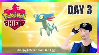 SHINY DREEPY HUNTING DAY 3! Pokemon Sword & Shield Masuda Method Egg Hatching! ( 500+ EGGS )