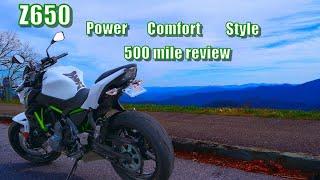 2017 Kawasaki Z650 review | 500 ridden miles | Handling basics for beginners