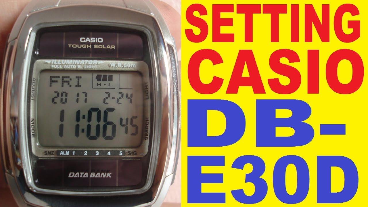 Инструкция касио db-e30.