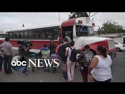 Caravan carrying dozens of migrants seeking asylum from Central America