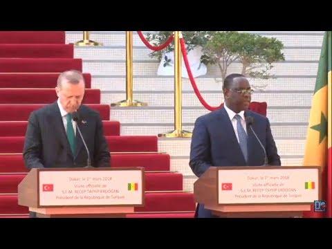 [LIVE] Suivez en direct la conférence de presse commune entre Macky Sall et Recep Tayyip Erdogan