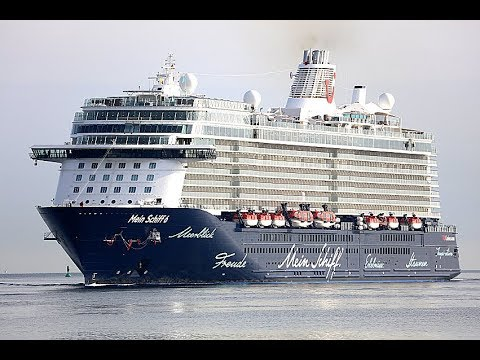 Mein Schiff 6 Her Very First Maiden Call In Kielgermany 4k Quality Video