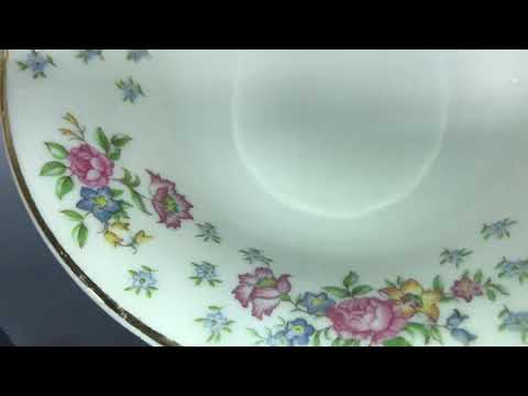 Edwin M. Knowles Tea Plates