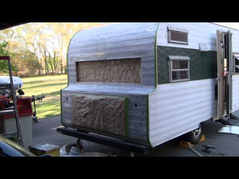 Vintage Camper Restoration - Stripping and Sanding