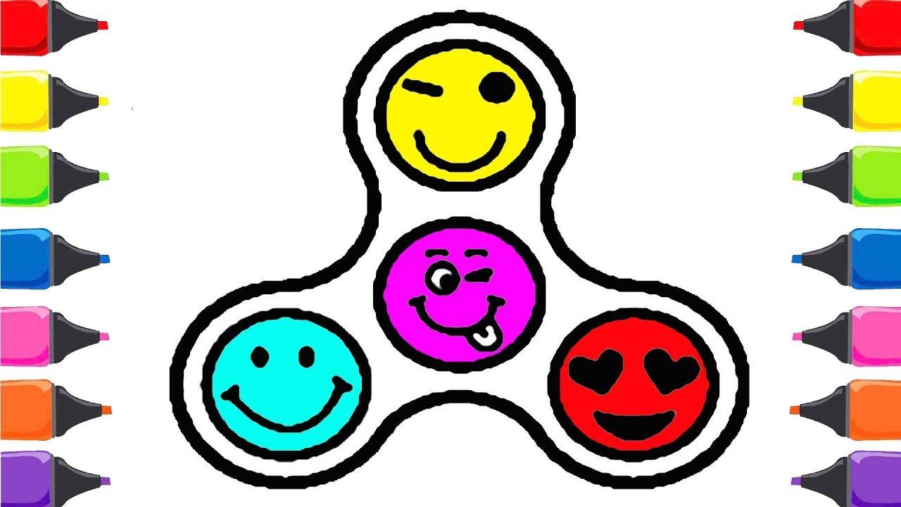 Emojili Stres çarkı Nasıl çizilir Renkleri öğreniyorum Renkler