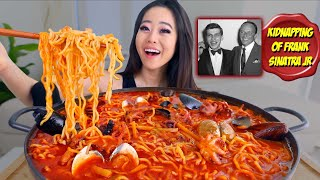 NUCLEAR BABY OCTOPUS RAMEN MUKBANG | Seafood Noodles Eating Show