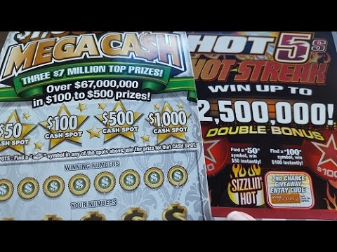 Indiana Lottery Scratch Offs Big Win Celebration Large Ticket Scratching Live Gambling
