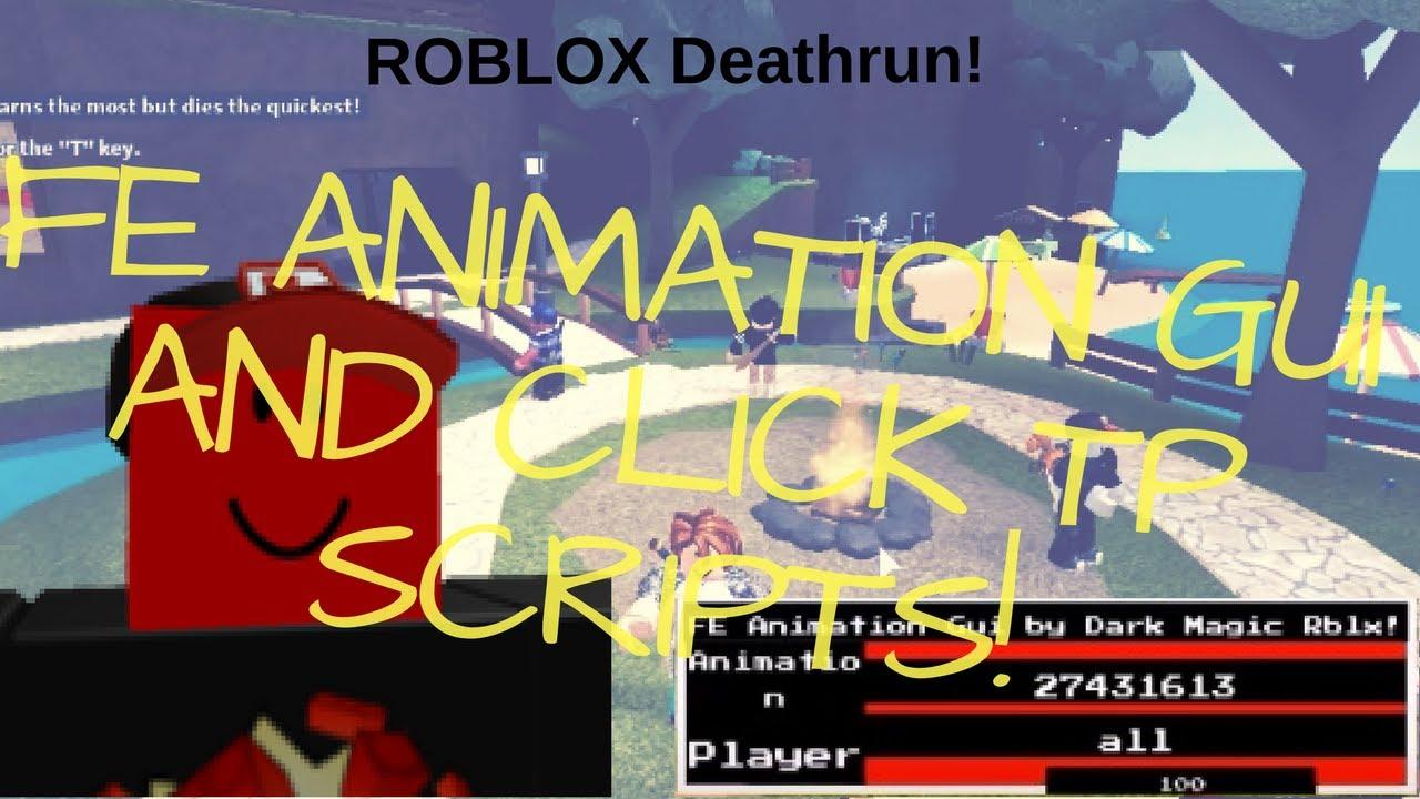 ROBLOX Deathrun Hack/Exploit | FE animation gui and Click Tp Script