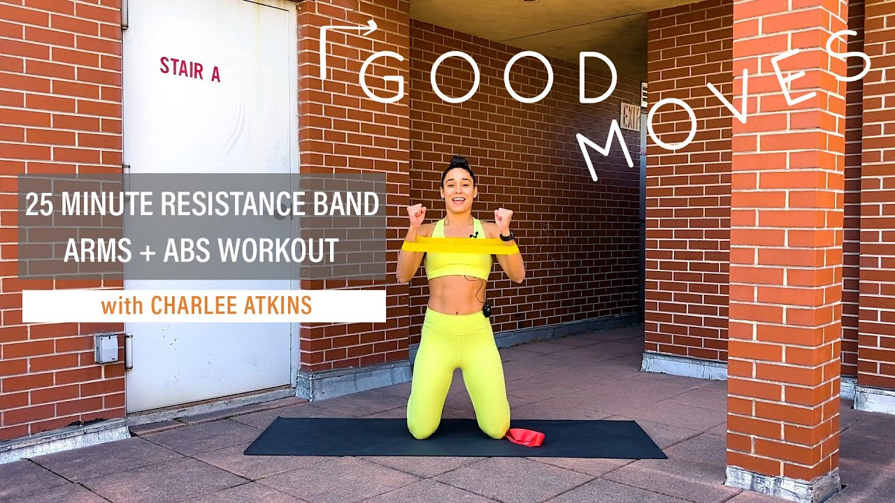 25 Minute Resistance Band Arms and Abs Workout | Good Moves | Well+Good
