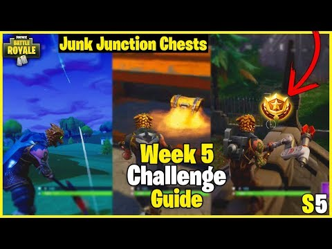 Snobby Shores Treasure Map + Tee To Green   S5 Week 5 Challenge Guide - Fortnite