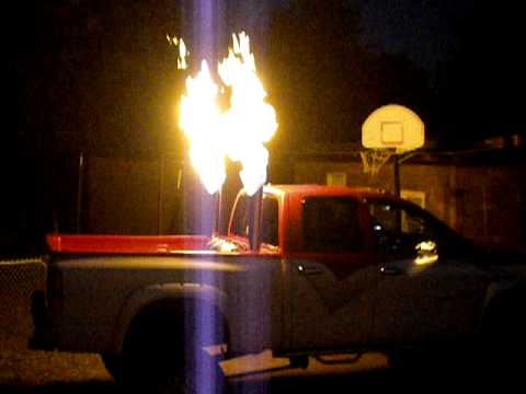 how to make a diesel exhaust flame thrower