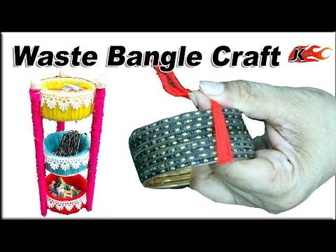How to reuse old bangles at home | Best out of waste | JK Arts 1580