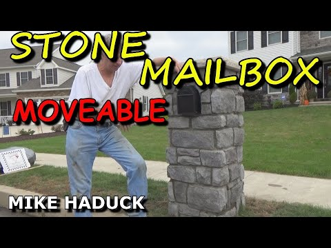 How I made a stone mailbox (moveable) Mike Haduck
