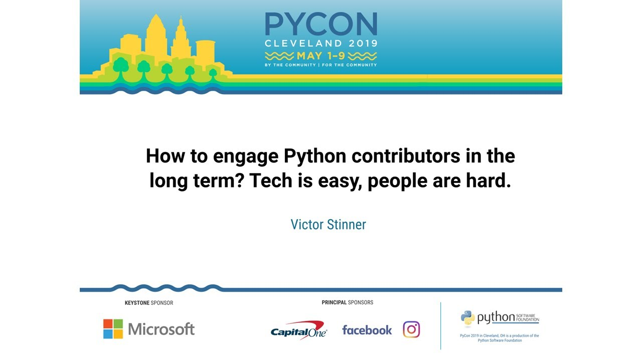 Image from How to engage Python contributors in the long term? Tech is easy, people are hard.