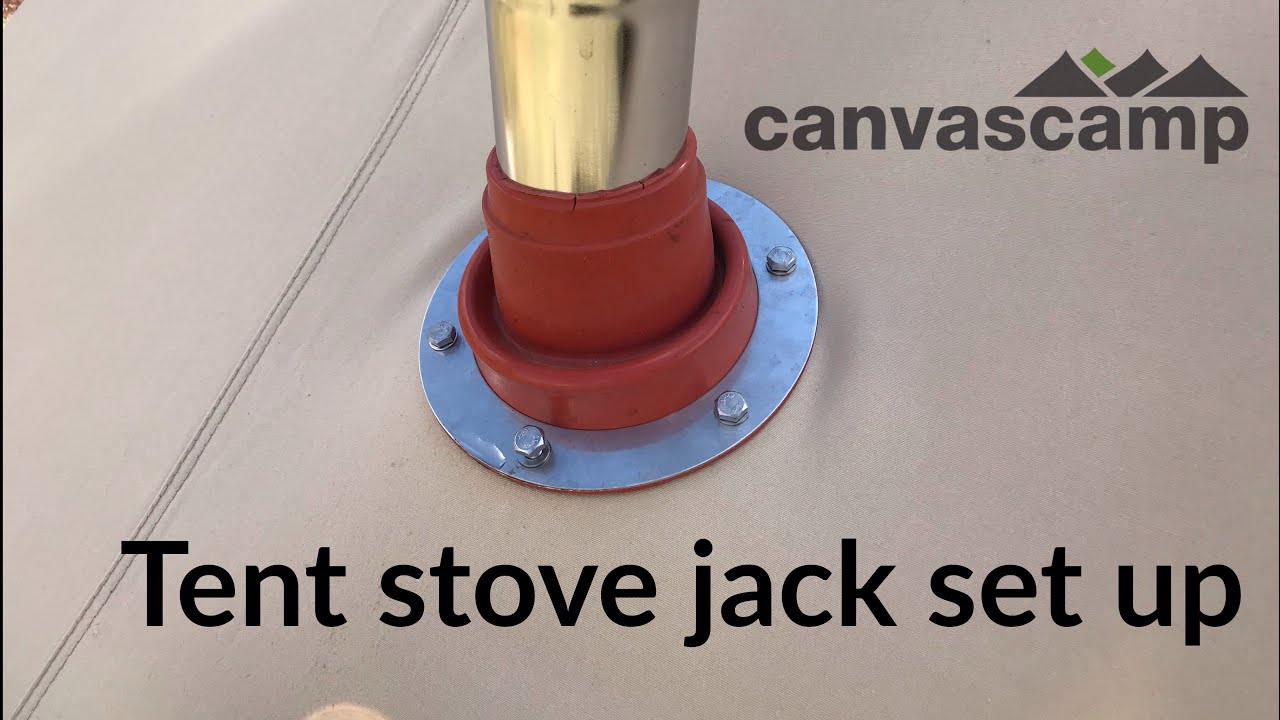 How to Install a Tent Stove Jack - CanvasC& & How to Install a Tent Stove Jack - CanvasCamp - YouTube