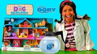 Doc Mcstuffins Toy Hospital Playset - Saving Dory! || Disney Toy Review || Konas2002