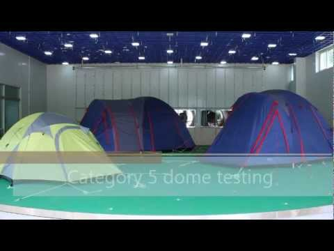 Category 5 dome tent testing in the extreme weather simulator & Category 5 dome tent testing in the extreme weather simulator ...