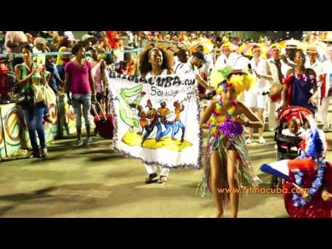 Défilé Ritmacuba au carnaval de Santiago 2016. 1ère partie.