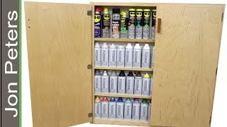 How to Make a Storage Cabinet for Spray Paint Cans