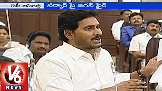 YS Jagan over Crop loan waiver to farmers in AP Assembly