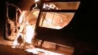 Pożar pojazdu w gminie Myszyniec