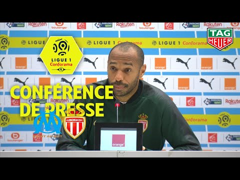 Conférence de presse Olympique de Marseille - AS Monaco ( 1-1 ) / 2018-19