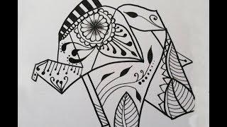 Elephant Mandala - Speed Drawing