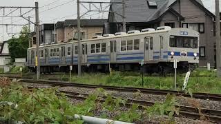 弘南鉄道弘南線7000形7135F普通黒石行き第27列車弘前東高前到着
