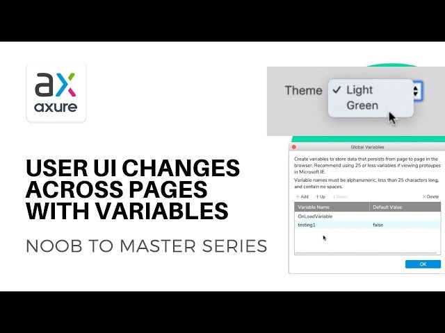 Change Theme or Content Across Pages with Variables | Axure RP: Noob to Master Ep20